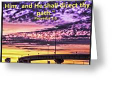 Interstate At Sunrise Greeting Card