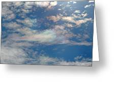 Iridescent Clouds Greeting Card