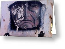 Iron Eyes Cody Homage The Big Trail 1930 The Crying Indian Black Canyon Arizona 2004 Greeting Card
