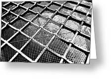 Iron Protection On Mesh Covered Well Inside Edinburgh Castle Greeting Card