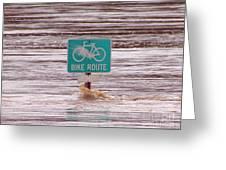 Ironic Street Sign  Greeting Card