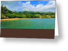 Island Of Maui Greeting Card