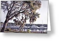 Isle Of Hope Marina Greeting Card