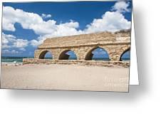 Israel Caesarea Aqueduct  Greeting Card