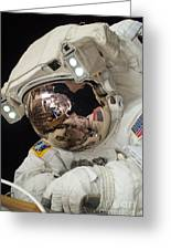 Iss Expedition 38 Spacewalk Greeting Card