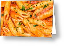 Italian Pasta - Penne All'arrabbiata Greeting Card