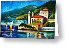 Italy Lake Como Villa Balbianello Greeting Card