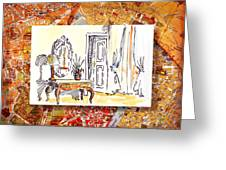 Italy Sketches Venice Hotel Greeting Card
