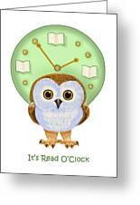 It's Read O'clock Greeting Card