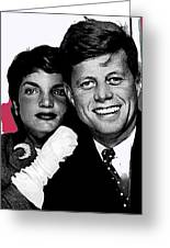 Jackie And Jack Kennedy In A Photo Booth Snap No Known Location 1953-2013 Greeting Card
