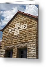 Jacksboro Texas Greeting Card