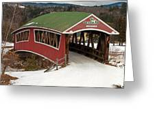 Jackson Cross Country Skiing Bridge Greeting Card