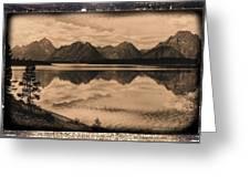 Jackson Lake Wyoming Greeting Card