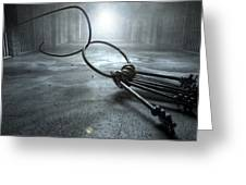 Jail Break Keys And Prison Cell Greeting Card