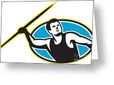 Javelin Throw Track And Field Athlete Greeting Card