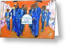 Jazz Funeral Greeting Card