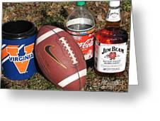 Jim Beam Coke And Football Greeting Card