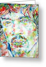 Jimi Hendrix Watercolor Portrait.1 Greeting Card