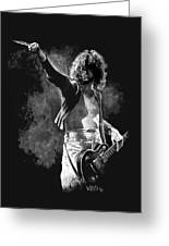 Jimmy Page Greeting Card by William Walts