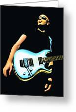 Joe Satriani Painting Greeting Card