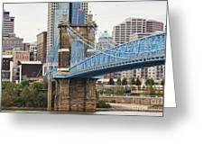 John Roebling Bridge 1867 Greeting Card
