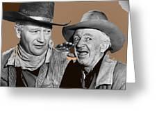 John Wayne Walter Brennan Publicity Photo Red River 1948-2013 Greeting Card