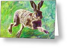 Joyful Hare Greeting Card