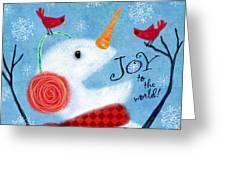 Joyful Snowman Greeting Card