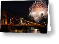 July 4th Fireworks In Pittsburgh Greeting Card