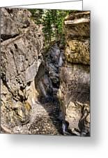 Jura Canyon Greeting Card