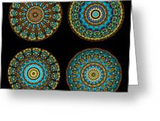 Kaleidoscope Steampunk Series Montage Greeting Card
