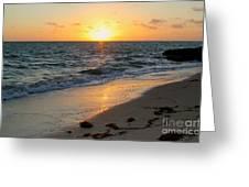 Kamalame Beach Greeting Card