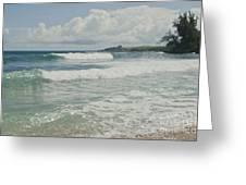 Kapalua Surf Honokahua Maui Hawaii Greeting Card