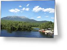 Katahdin From Abol Bridge Greeting Card