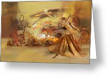 Kathak Dancer 4 Greeting Card