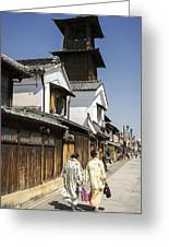 Kawagoe Bell Tower Greeting Card