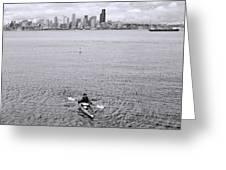 Kayaking Elliot Bay Greeting Card