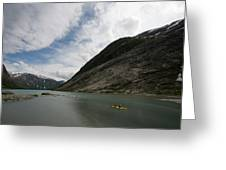 Kayaking To The Nigardsbreen Glacier Greeting Card