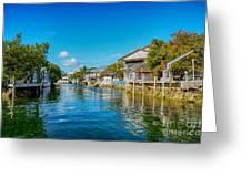 Key Largo Canal 3 Greeting Card