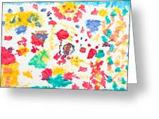 Kid's Artwork Colorful Background Greeting Card