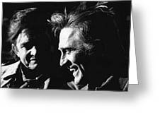 Kirk Douglas Laughing Johnny Cash Old Tucson Arizona 1971 Greeting Card