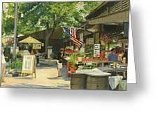 Kirkwood Farmers Market American Flag Greeting Card