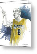 Kobe Bryant Greeting Card by Christiaan Bekker