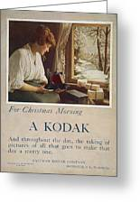 Kodak Advertisement, 1914 Greeting Card