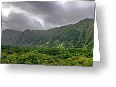 Koolau Waterfalls Greeting Card