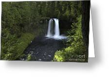 Koosah Falls Greeting Card