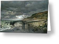 La Pointe De La Heve At Low Tide Greeting Card