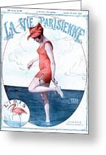 La Vie Parisienne 1918 1910s France Greeting Card by The Advertising Archives