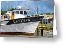 Lady Eva Greeting Card