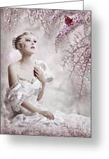 Lady Greeting Card by Svetlana Sewell